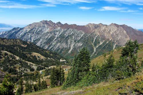 Cottonwood Ridge from Hidden Peak