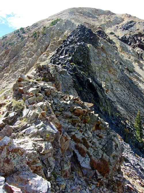 Steep black rock