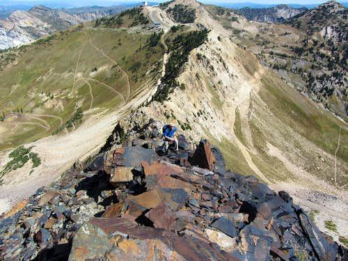 Up the black rock ridge