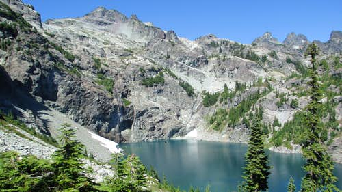 Chikamin Peak and Glacier Lake