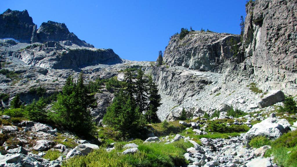 The Talus Slope Above Glacier Lake