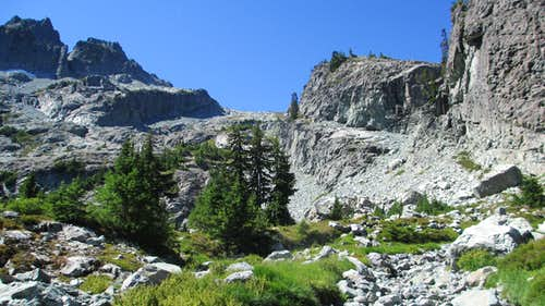 The Talus Slope Above Glacier Lake