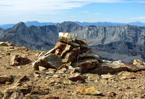 AF Twins summit cairn