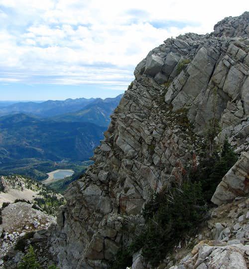 White Pine ridge dropoff