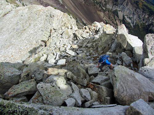White Baldy ridge scramble