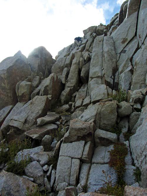 White Baldy west ridge downclimb