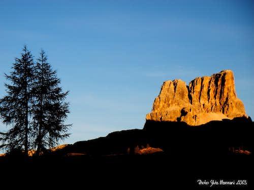 Monte Averau at sunset