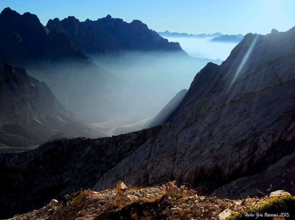 Soft fogs vanishing at dawn