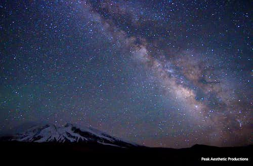 Mustagh Ata and Milky Way