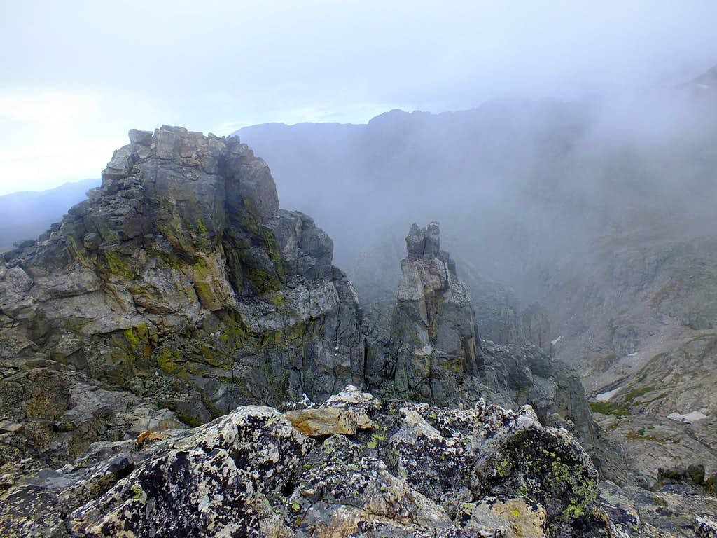 Poor Weather on Shoshoni Peak Summit