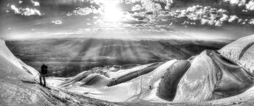 Skiing Muztagh Ata, China