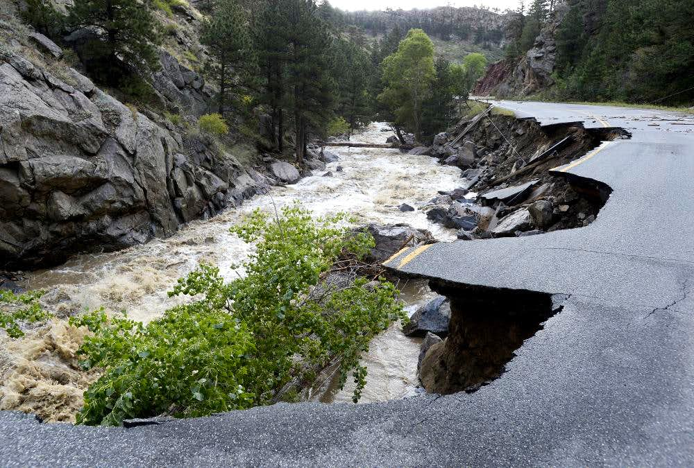 Lefthand Canyon Road Flood Damage