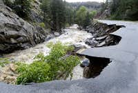 Lefthand Canyon Road Flood Damage
