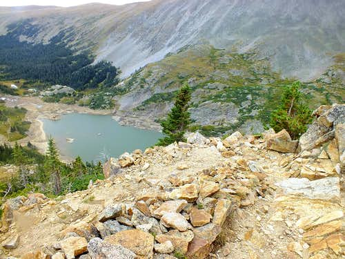 Switchback on Pawnee Pass Trail
