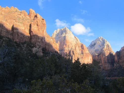 north into Zion Canyon