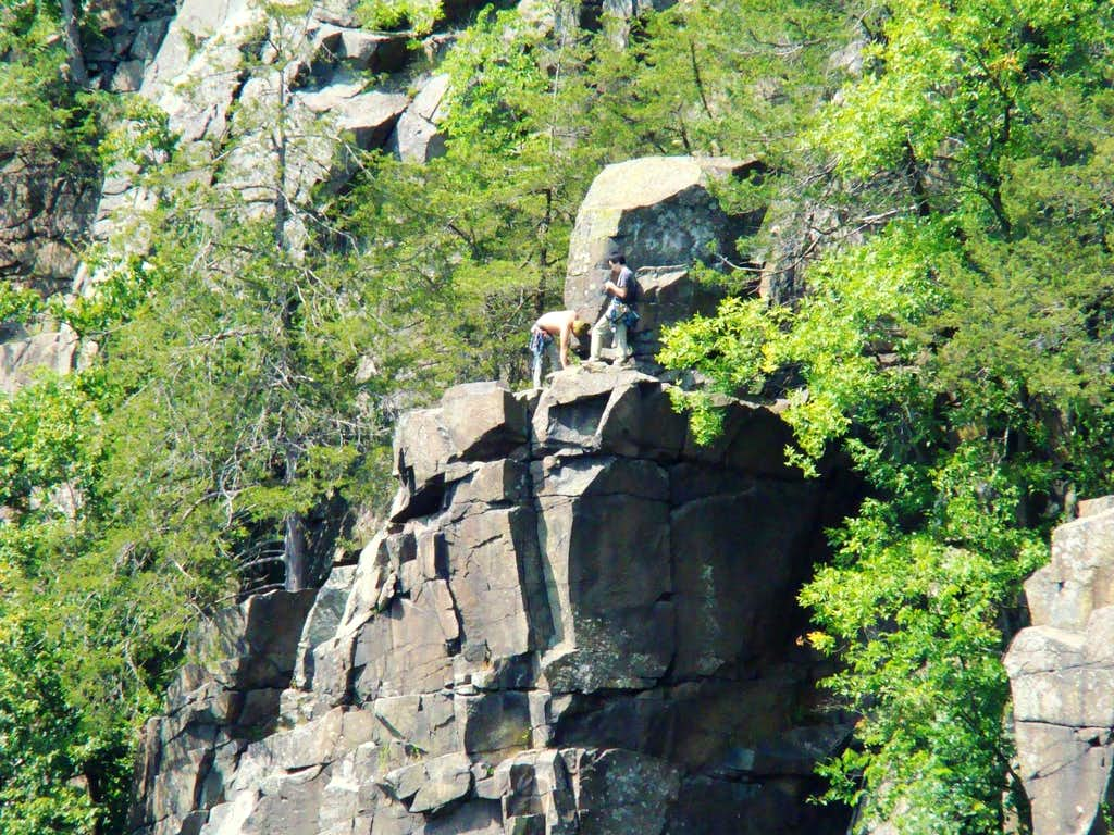 Rock Climbers at Interstate Park