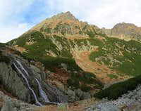 On left is highest waterfall in Poland - Siklawa
