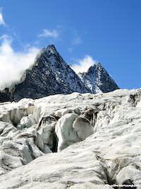 Deep crevasses on Glacier Blanc