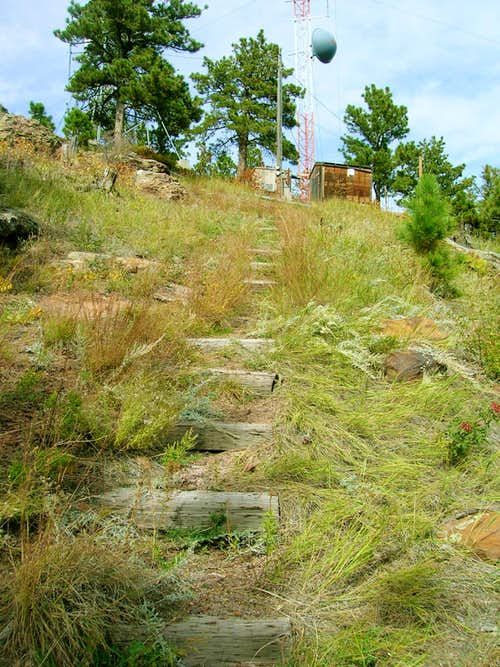 Old Steps to Battle Mountain Fire Tower