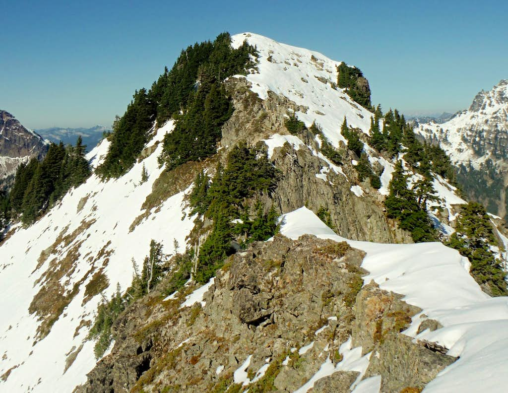 Closeup of the Alta summit