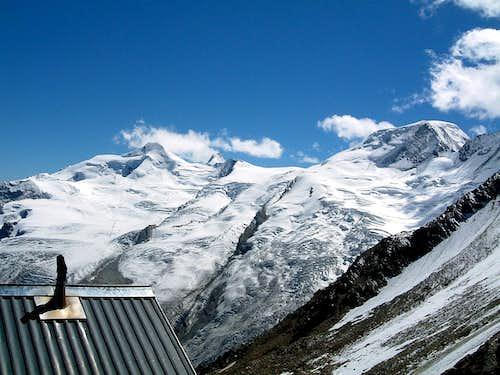Allalinhorn and Alphubel from Mischabel Hut