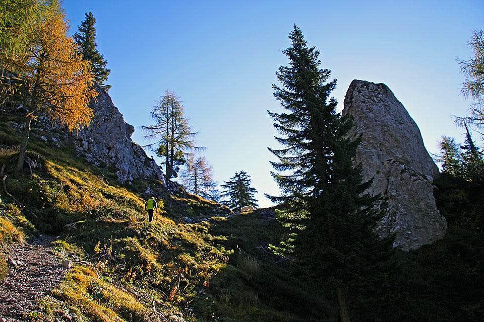 Towards the summit of Olseva