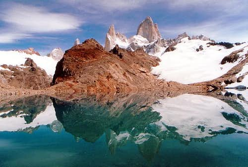 Cerro Fitzroy reflected in...