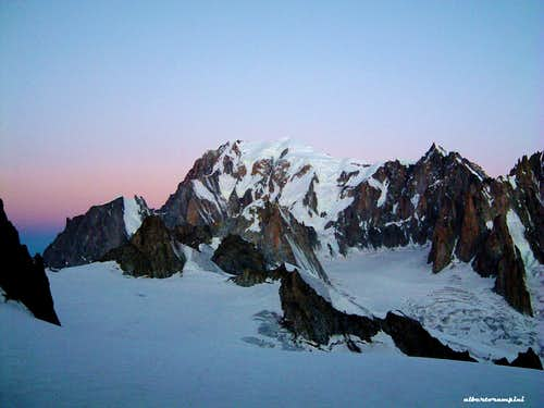 Monte Bianco from Glaciér du Geant