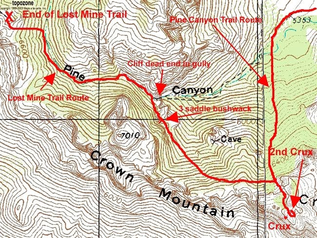 Pine Canyon to Lost Mine