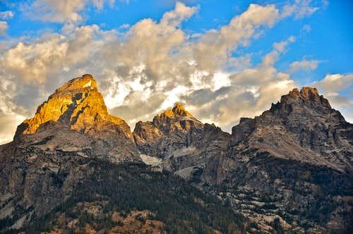 Grand Teton, Mt.Owen and Mt. Teewinot