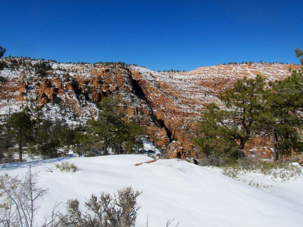 a deeply cut canyon