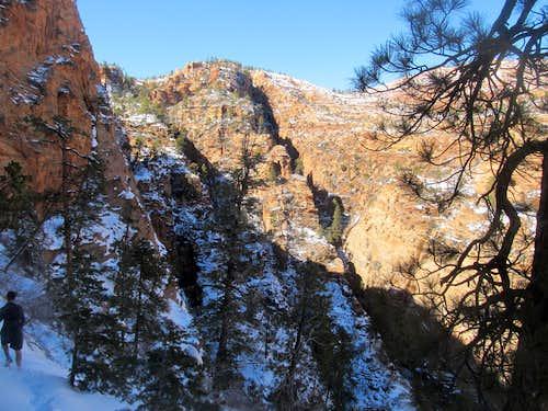 a look at a narrow canyon