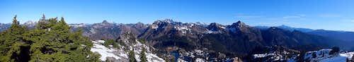 Rampart Ridge Summit Panorama