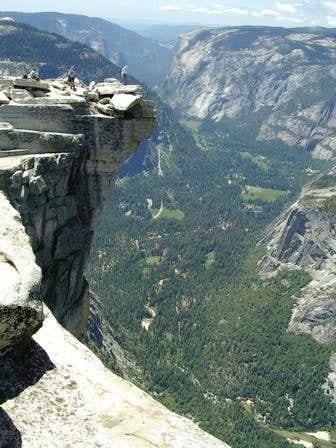 View from Half Dome looking...