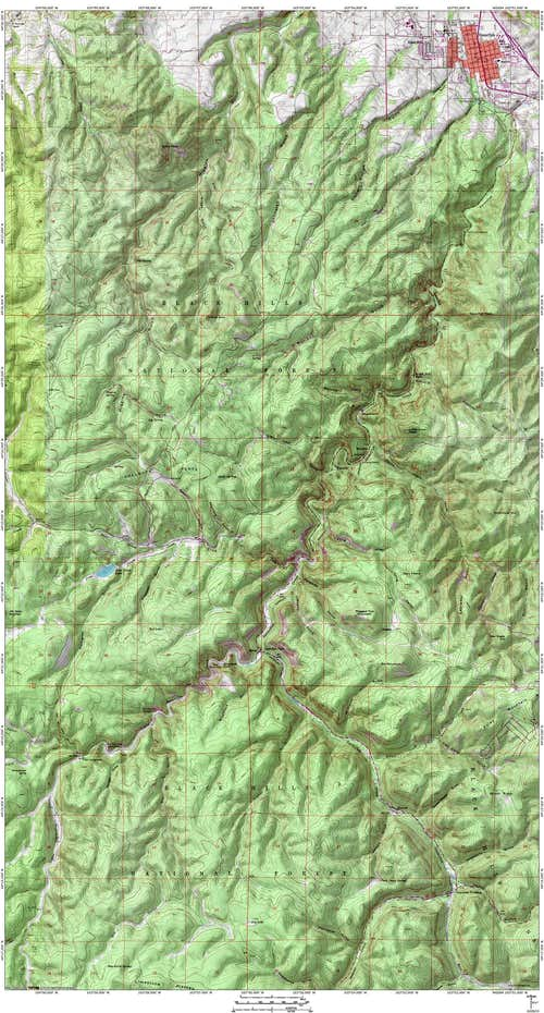 Map of Spearfish Canyon