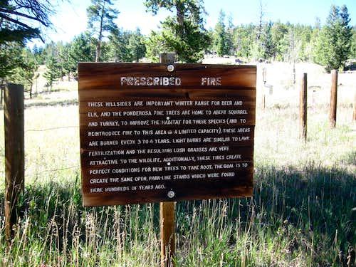Prescribed Fire signage
