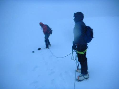 5 hours out of our camp. Still 400+ m short of summit