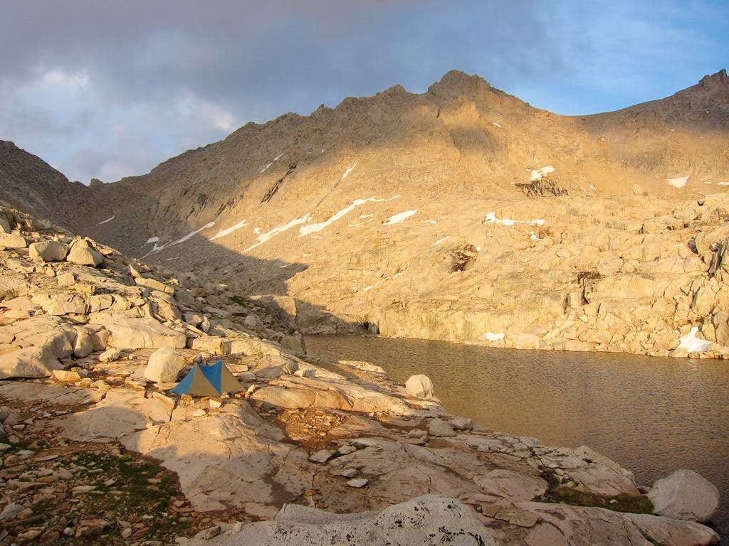 Camp below Mount Brewer