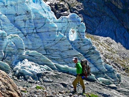 ExcitableBoy with the Lower Curtis Glacier