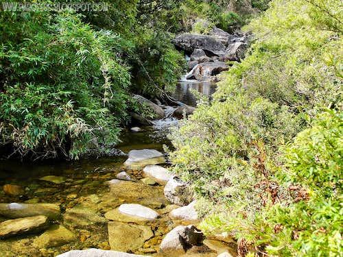 River cross- Serra Negra peak trail