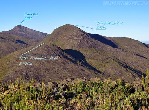 Informational view of Falso Tesourinho Peak