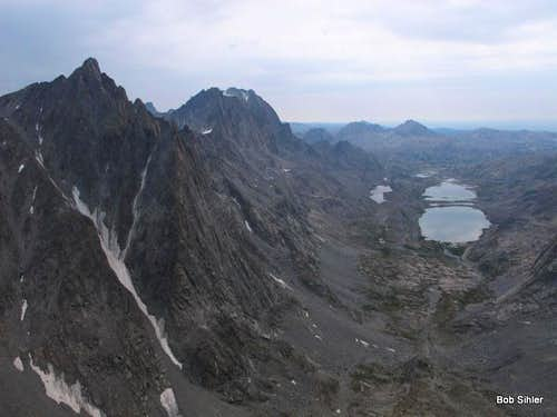 Titcomb Basin from Bobs Towers Highpoint