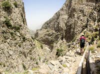 Heading down Mesonas Gorge