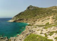 Looking back from Cape Agios Ioannis