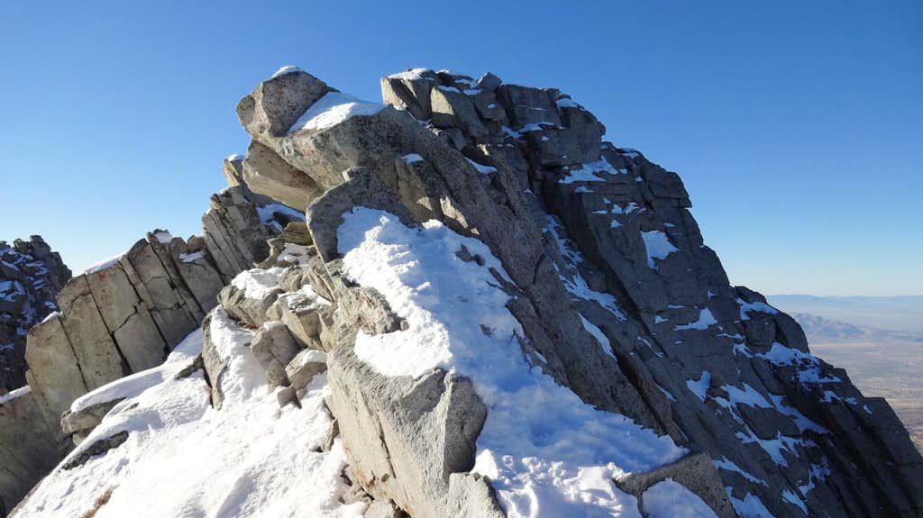 Big Bad Rock, Lone Peak summit ridge.
