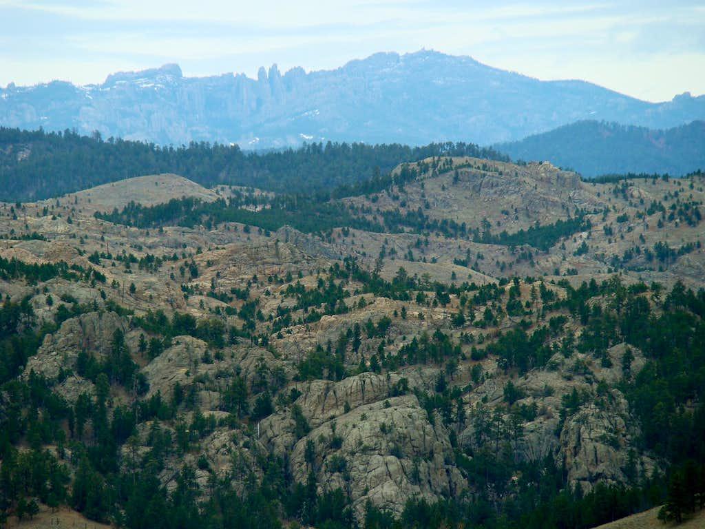 Black Elk Peak Telephoto View