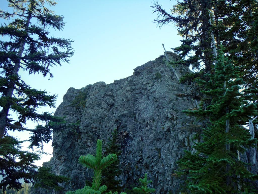 The final summit rock