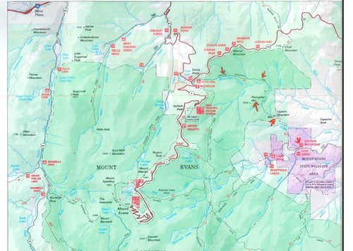 Trail Map from the Forest Service