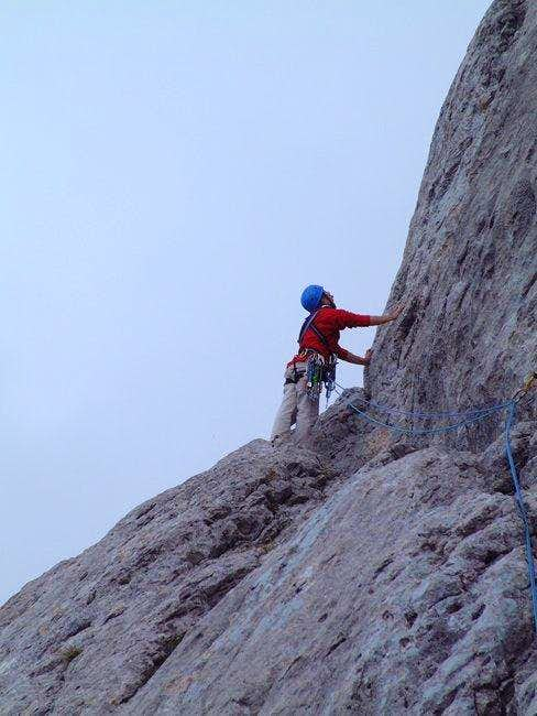 Climbing in the North spur...