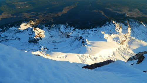Snow dome and Coe Glacier from the summit ridge